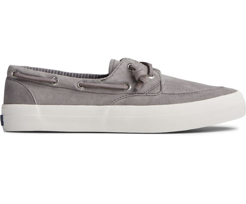 Crest Boat Brushed Canvas Sneaker, Grey, dynamic