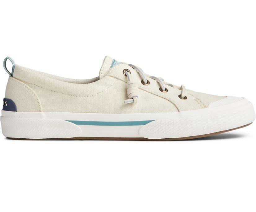 Pier Wave Lace To Toe Retro Cap Sneaker, Bone White, dynamic