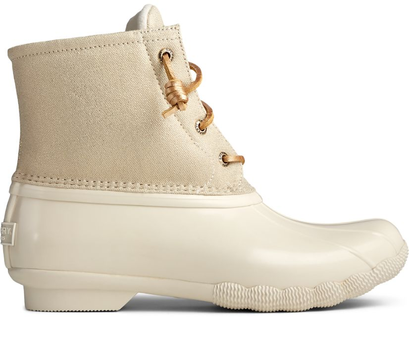 Saltwater Sparkle Textile Duck Boot, Gold, dynamic