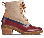 Saltwater Heel Wool Duck Boot, Tan/Cordovan, dynamic
