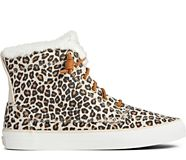 Crest High-Top Animal Print Sneaker, Tan/Black, dynamic