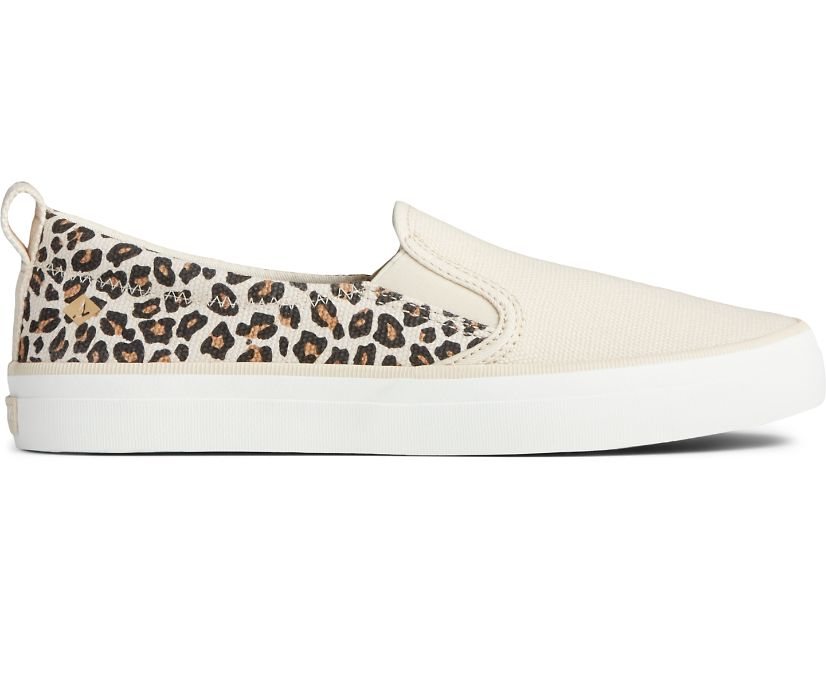Crest Twin Gore Animal Print Sneaker, Tan/Black, dynamic
