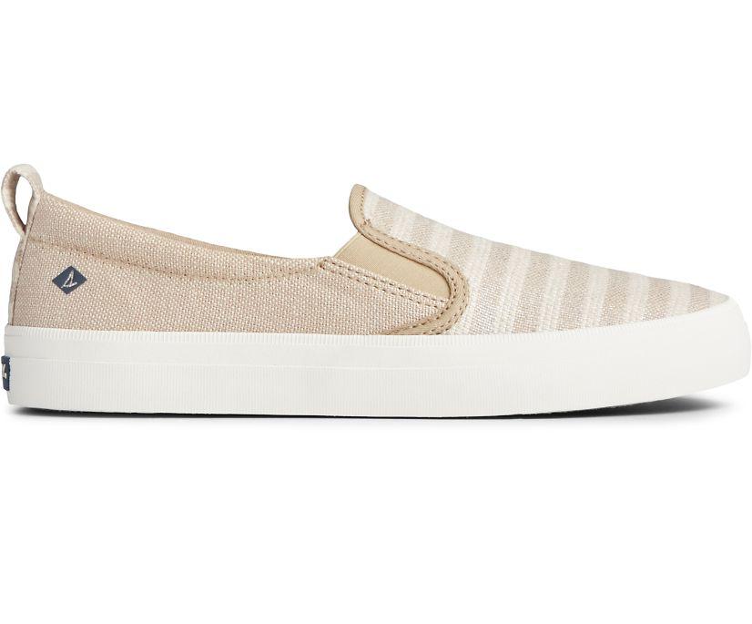 Crest Twin Gore Slip On Sneaker, Oat/Tan, dynamic