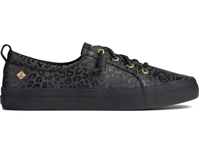 Crest Vibe Animal Print Sneaker, Black/Black, dynamic