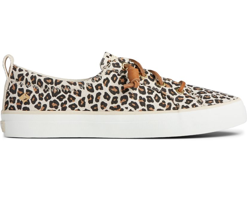 Crest Vibe Animal Print Sneaker, Tan/Black, dynamic