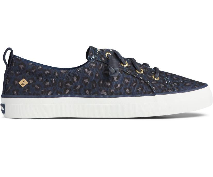 Crest Vibe Animal Print Sneaker, Blue/Black, dynamic