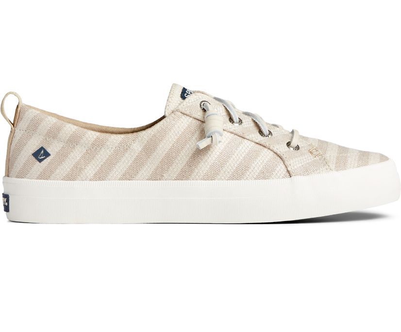 Crest Vibe Seasonal Stripe Sneaker, Oat/Tan, dynamic