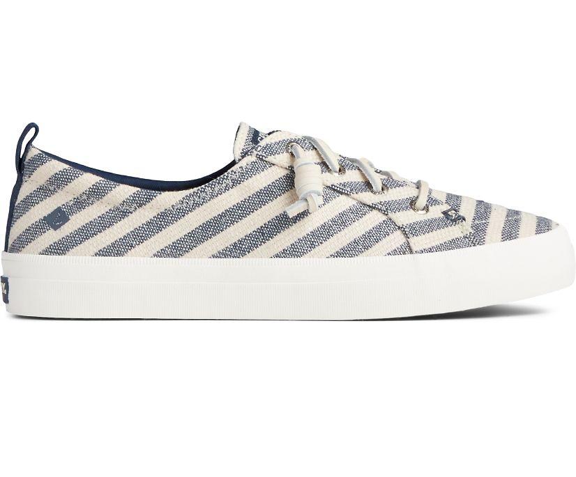 Crest Vibe Seasonal Stripe Sneaker, Oat/Blue, dynamic