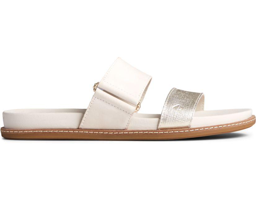 Waveside PLUSHWAVE Slide Sandal, Silver, dynamic