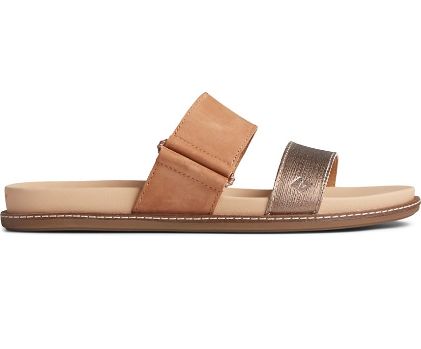 Waveside PLUSHWAVE Slide Sandal, Copper, dynamic