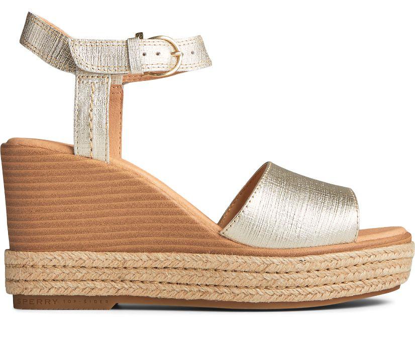 Fairwater PLUSHWAVE Wedge Sandal, Gold, dynamic