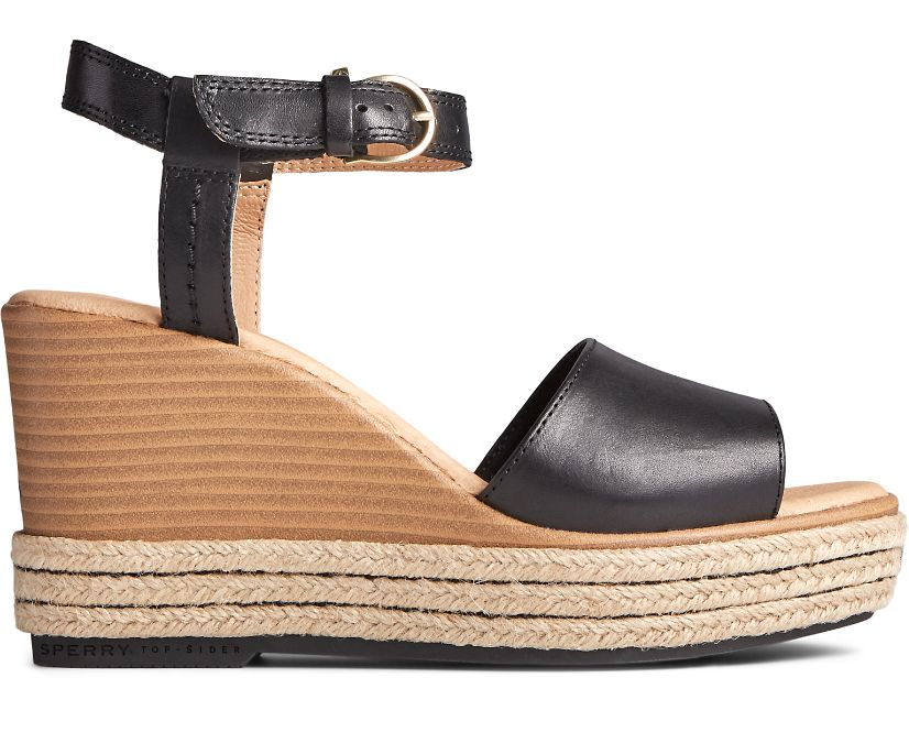 Fairwater PLUSHWAVE Wedge Sandal, Black, dynamic