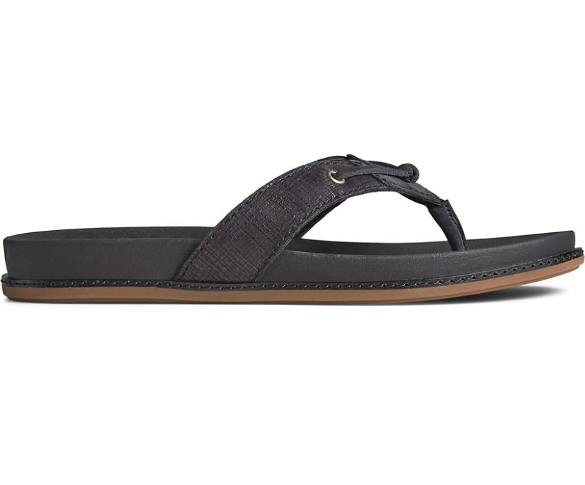 Waveside PLUSHWAVE Flip Flop, Black, dynamic