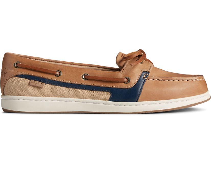 Starfish Boat Shoe, Tan/Navy, dynamic