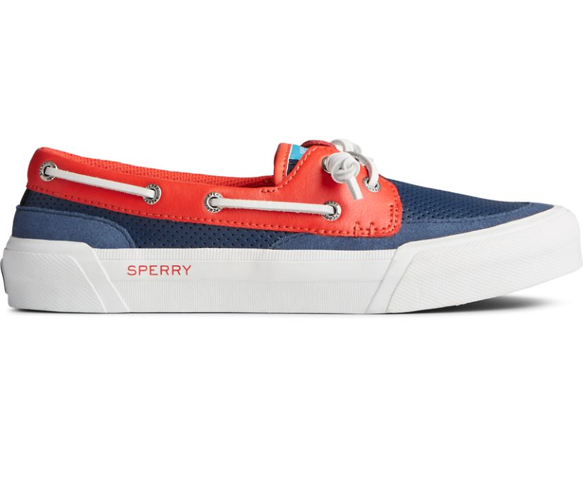 Soletide 2-Eye Sneaker, Blue/Red, dynamic