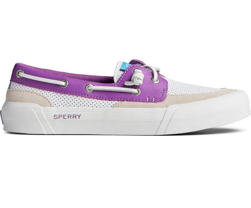 Soletide 2-Eye Sneaker, White/Purple, dynamic