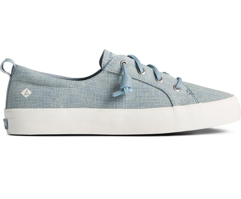 Crest Vibe Textured Denim Sneaker, Blue, dynamic