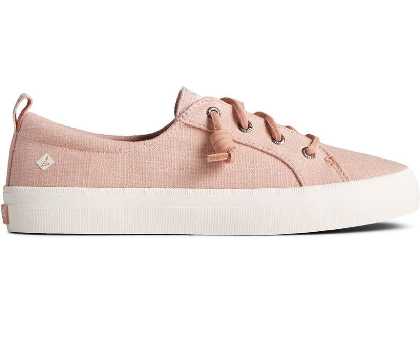 Crest Vibe Textured Denim Sneaker, Rose, dynamic