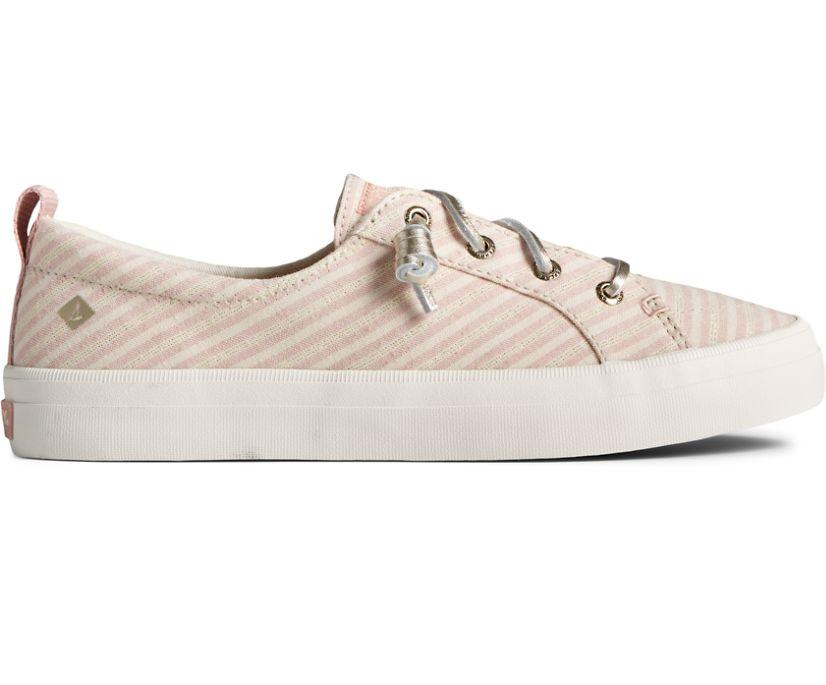Crest Vibe Metallic Stripe Sneaker, Pink, dynamic