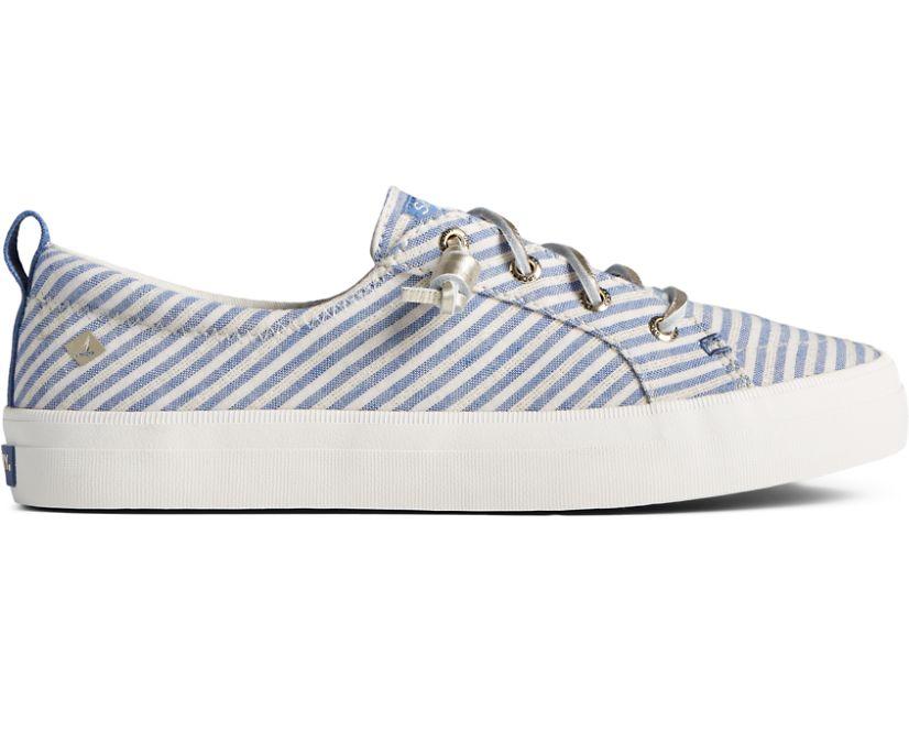 Crest Vibe Metallic Stripe Sneaker, Blue/Gold, dynamic