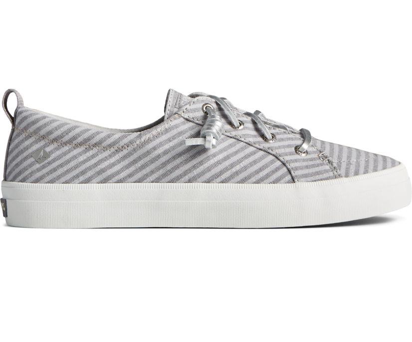 Crest Vibe Metallic Stripe Sneaker, Blue/Silver, dynamic