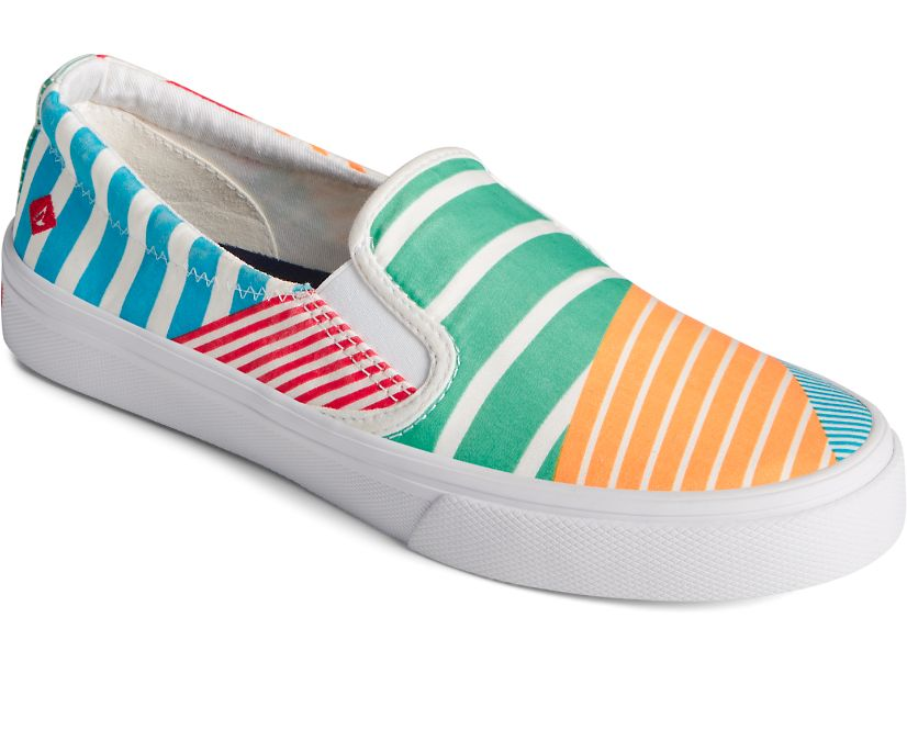 Sperry Women's Crest Twin Gore Twisted Textile Slip On Sneakers