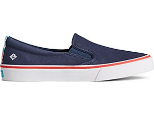 Sperry Women's Crest Twin Gore Twisted Textile Slip On Sneaker