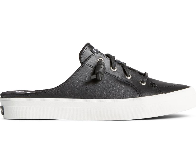 Crest Vibe Leather Mule Sneaker, Black, dynamic