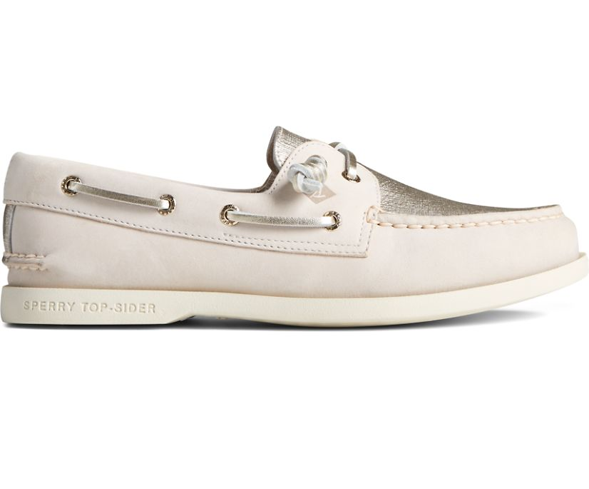 Authentic Original Vida PLUSHWAVE Metallic Boat Shoe, Gold, dynamic