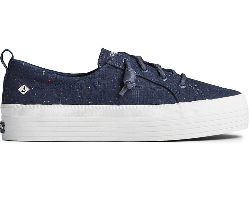 Crest Vibe Platform Confetti Sneaker, Navy, dynamic