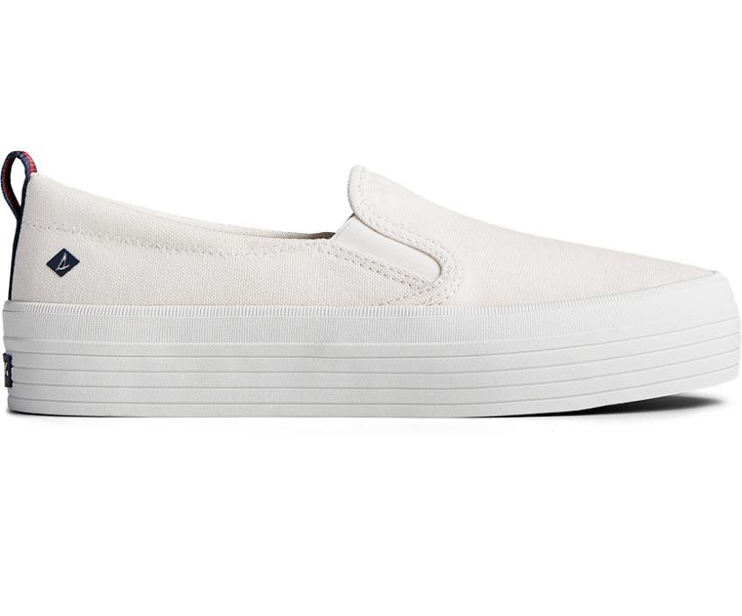 Crest Twin Gore Platform Slip On Sneaker, White, dynamic