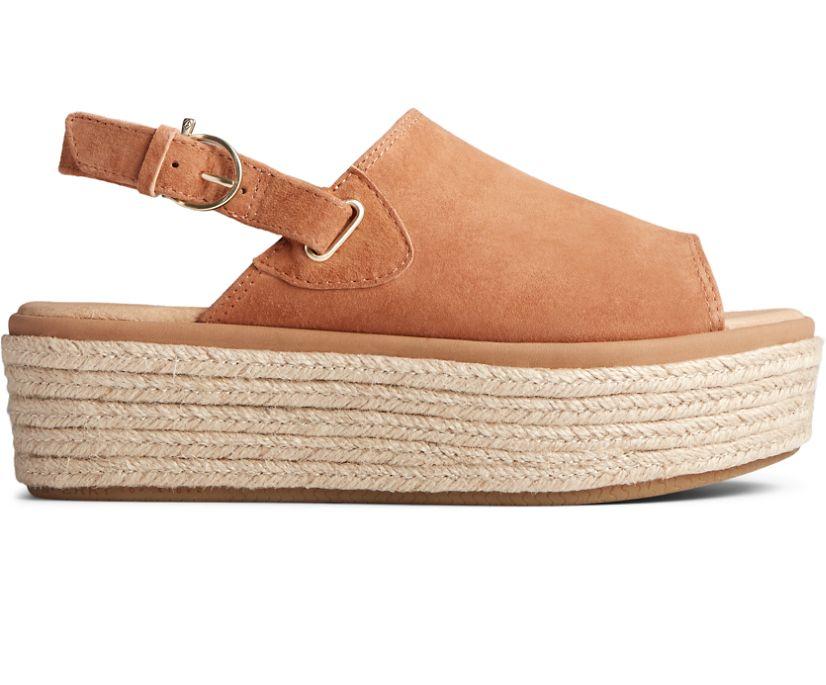 Delmare PLUSHWAVE Platform Sandal, Brown, dynamic