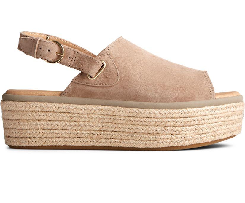 Delmare PLUSHWAVE Platform Sandal, Taupe, dynamic