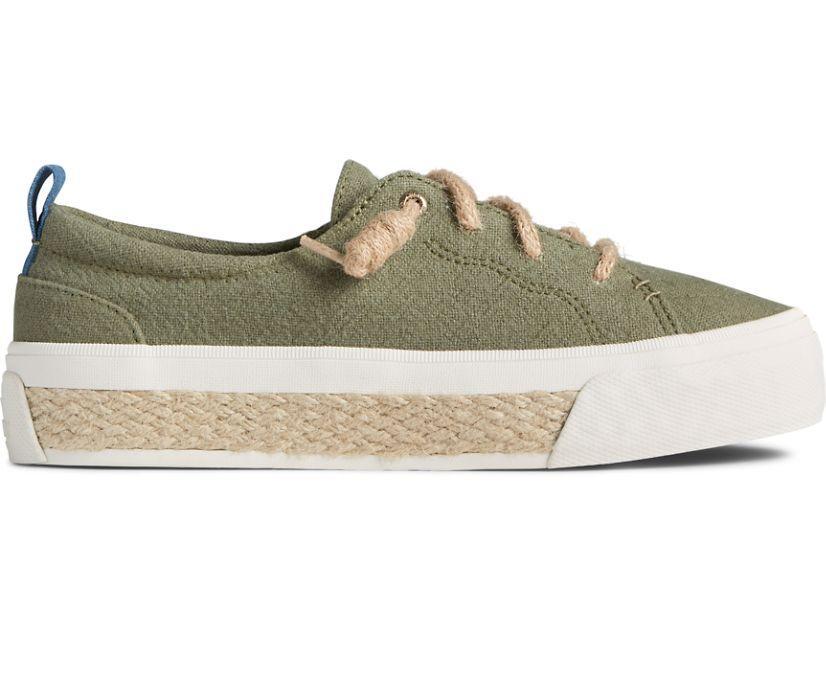 Crest Vibe Platform Resort Sneaker, Olive, dynamic