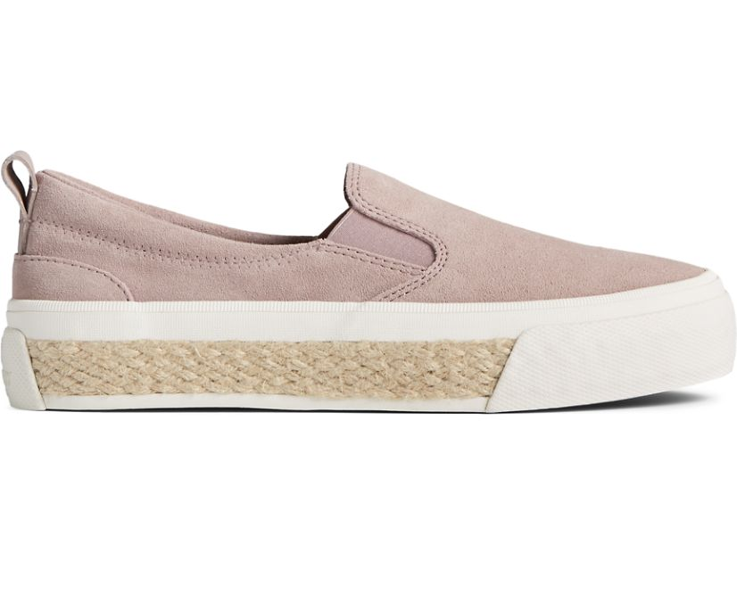 Crest Twin Gore Platform Resort Slip On Sneaker, Mauve, dynamic