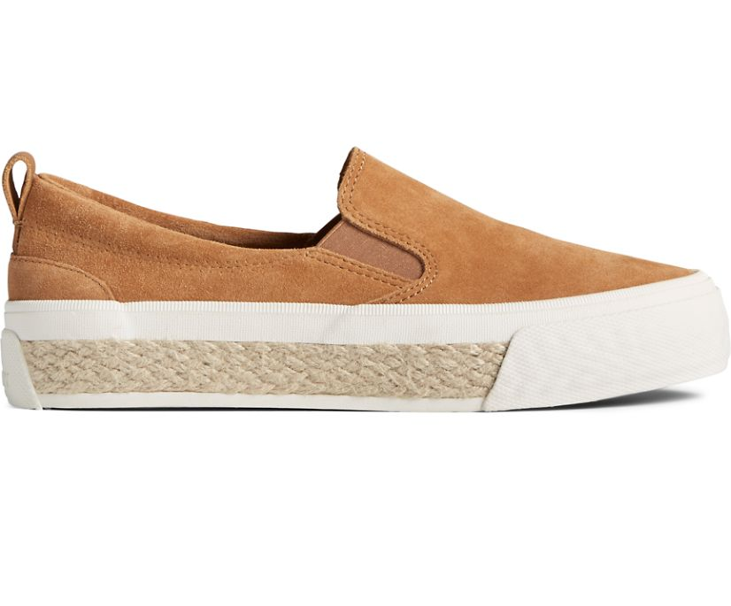 Crest Twin Gore Platform Resort Slip On Sneaker, Tan, dynamic