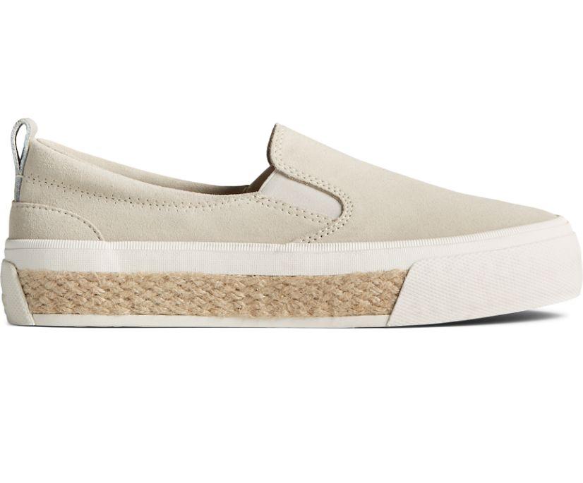 Crest Twin Gore Platform Resort Slip On Sneaker, Bone White, dynamic