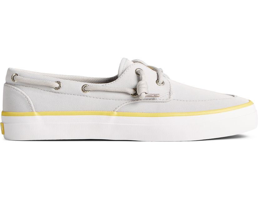 Crest Boat SeaCycled Sneaker, Grey/Yellow, dynamic