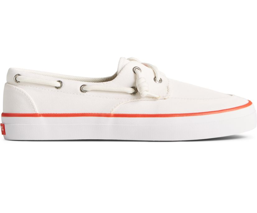 Crest Boat SeaCycled Sneaker, White/Red, dynamic