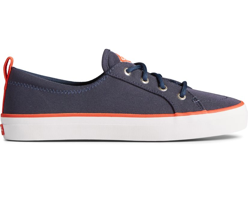 Crest Vibe SeaCycled Sneaker, Navy/Red, dynamic