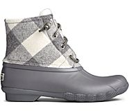 Saltwater Wool Duck Boot, Grey Plaid, dynamic