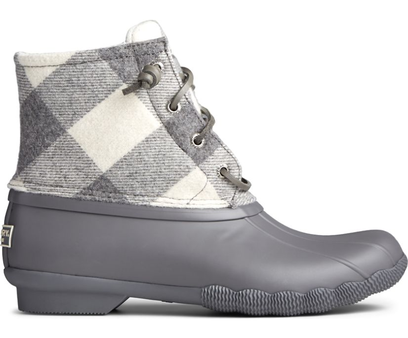 Saltwater Wool Duck Boot, Grey Plaid, dynamic