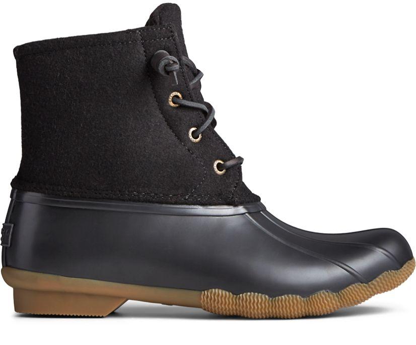 Saltwater Wool Duck Boot, Black, dynamic