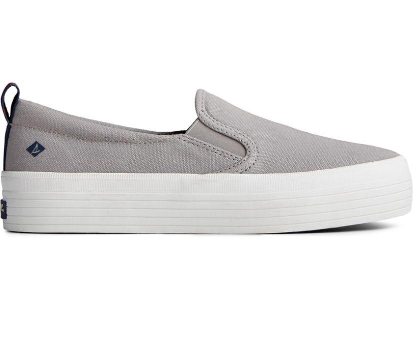 Crest Twin Gore Platform Slip On Sneaker, Grey, dynamic