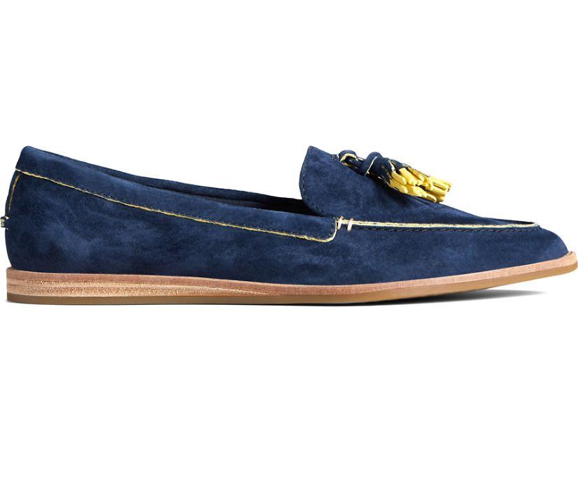 Saybrook Slip On Painted Tassel Loafer, Navy, dynamic
