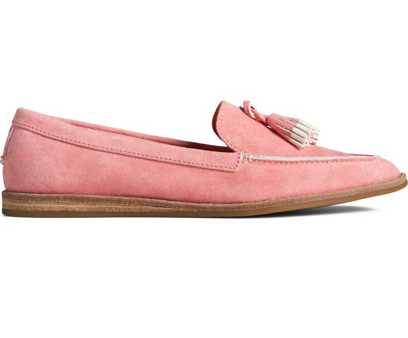 Saybrook Slip On Painted Tassel Loafer, Pink, dynamic