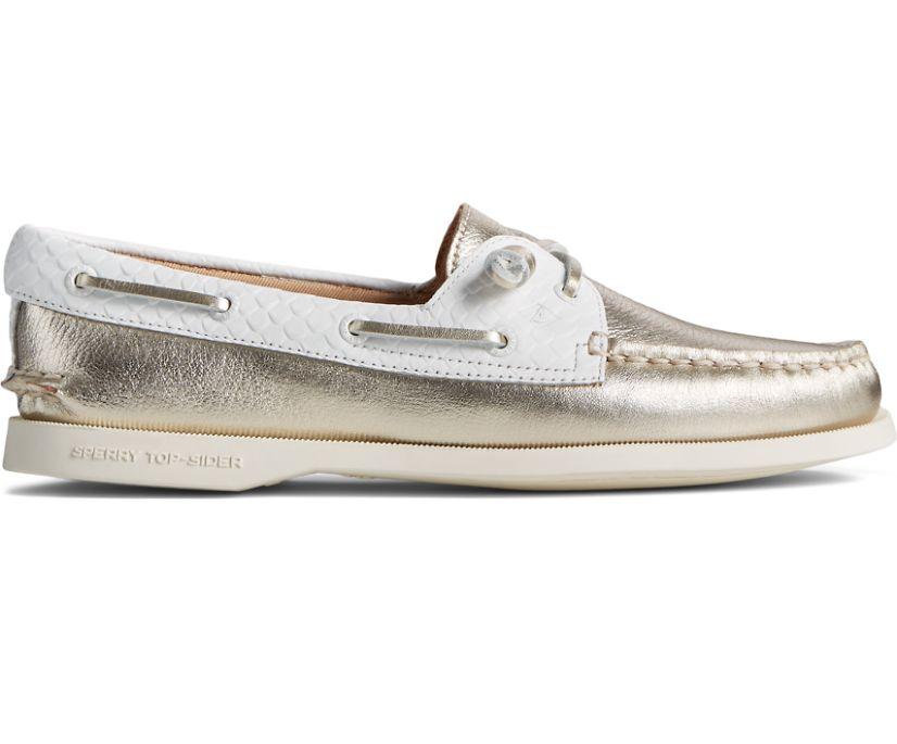 Authentic Original Vida Metallic Boat Shoe, Gold Multi, dynamic