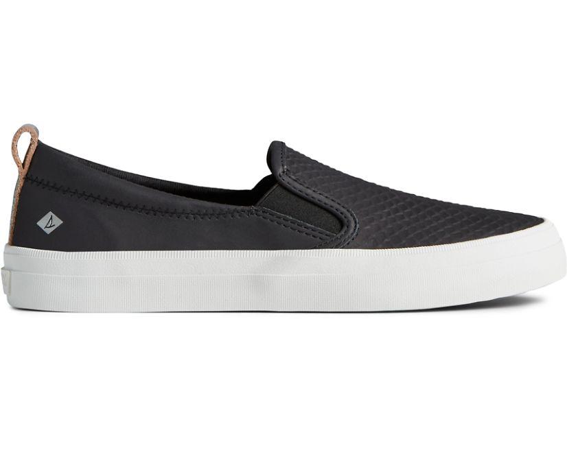 Crest Twin Gore Metallic Slip On Sneaker, Black, dynamic