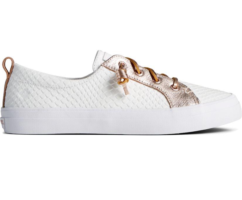 Crest Vibe Metallic Leather Sneaker, White Multi, dynamic