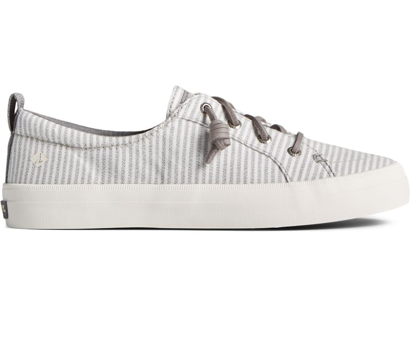 Crest Vibe Linen Stripe Sneaker, Grey, dynamic